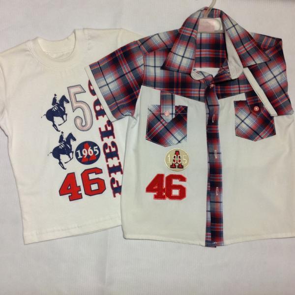 детская одежда недорого Двойка/ рубашка+футболка