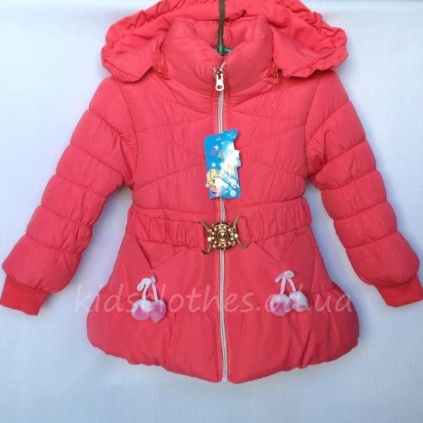 Куртка детская для девочек утепленная коралловая