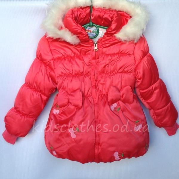 Куртка детская для девочек оптом коралловая