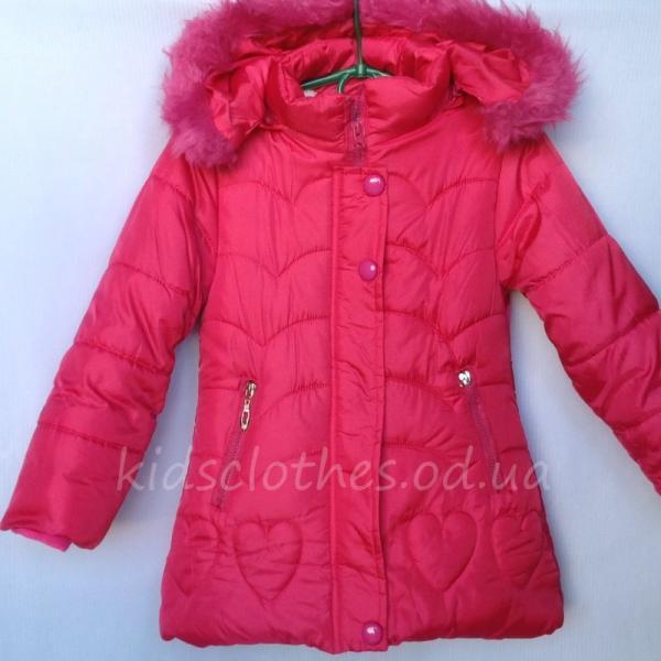 Куртка утепленная для девочек розовая