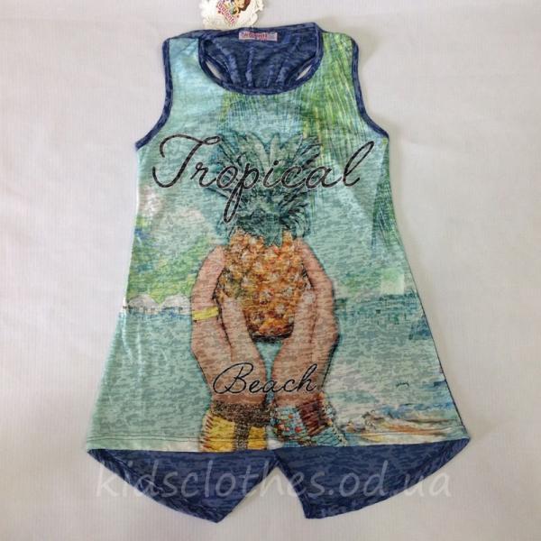 детская одежда недорого Туника-майка детская летняя для девочек