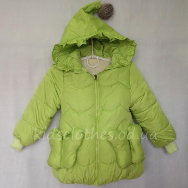 детская одежда недорого Куртка детская утепленная демисезонная для девочек
