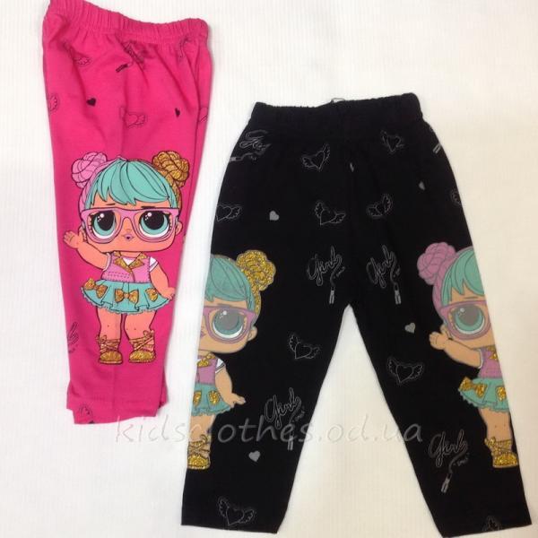 детская одежда недорого Капри детские для девочек -Lol Girl -Basak- черные 5-8 лет