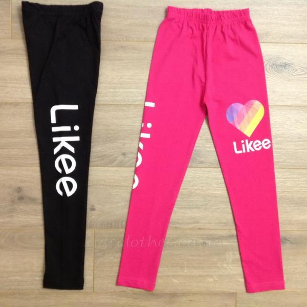 детская одежда недорого Лосины подростковые для девочек -Likee- малинового цвета 10-11-12-13-14 лет