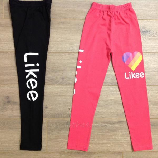 детская одежда недорого Лосины подростковые для девочек -Likee- кораллового цвета 10-11-12-13-14 лет