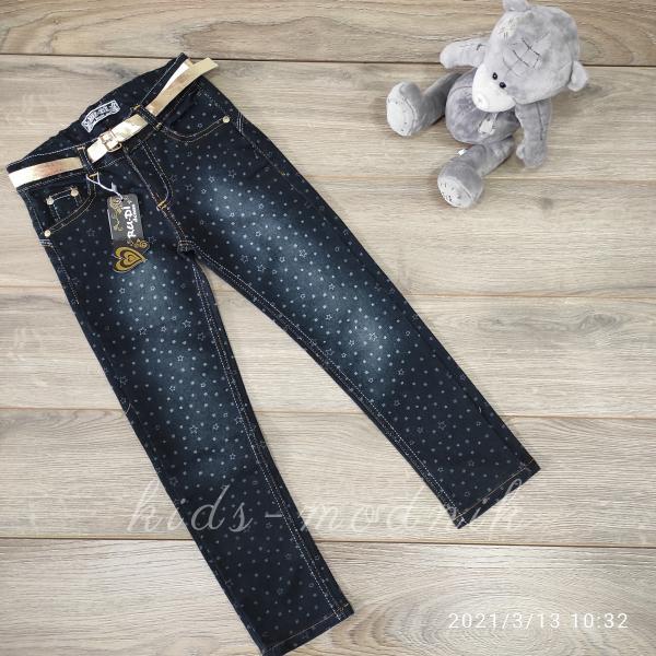 детская одежда недорого Брюки джинсовые для девочек -Ru-Di- 8-9;9-10;11-12 лет