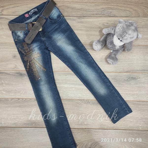 детская одежда недорого Брюки джинсовые стрейчевые подростковые для девочек -Richmond- 10-13-13-14 лет