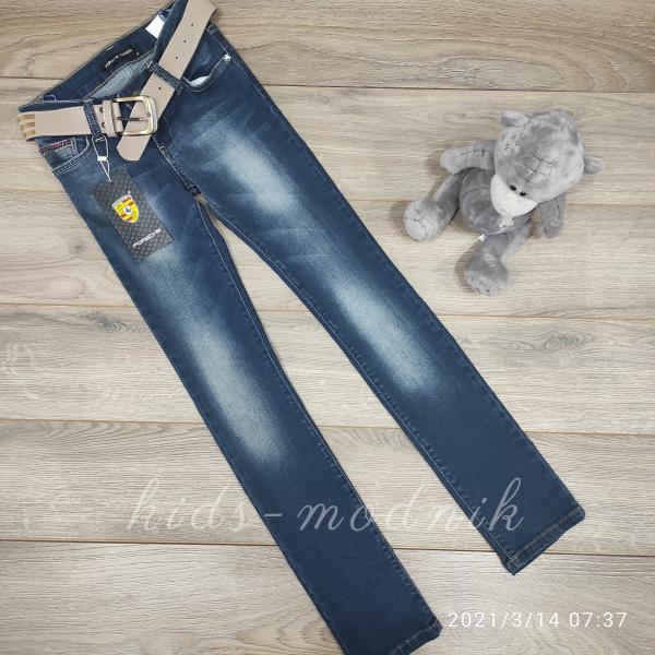 детская одежда недорого Брюки джинсовые стрейчевые подростковые для девочек -Porsche- 10-11-12-13-14-14 лет