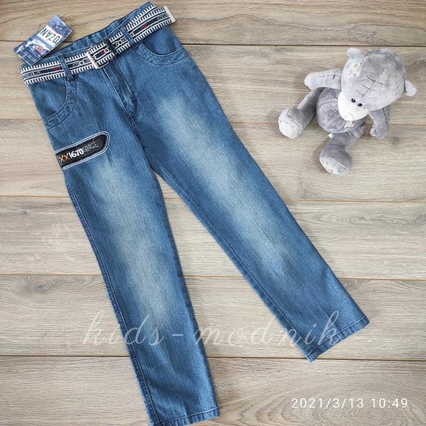 детская одежда недорого Брюки джинсовые летние для мальчиков -Ozan- 7-8;10-11;11-12 лет