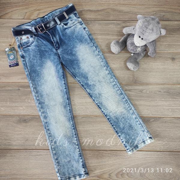 детская одежда недорого Брюки джинсовые летние для мальчиков -Zeyser- 10-11-11-12 лет