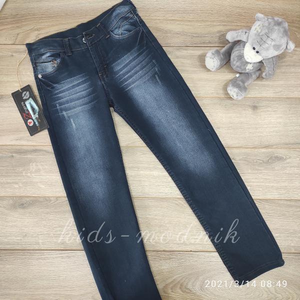 детская одежда недорого Брюки джинсовые подростковые для мальчиков -Zingers- 11-12-12-13-13 лет