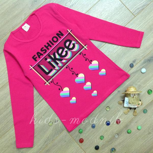 Батник подростковый для девочек -Fashion Likee- малинового цвета 9-10-11-12 лет