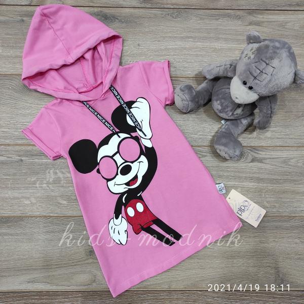 детская одежда недорого Платье летнее детское для девочек - Nice - розового цвета 2-3-4-5 лет