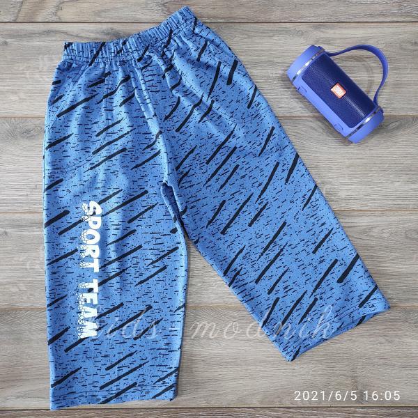 детская одежда недорого Бриджи подростковые для мальчиков -Sport- голубого цвета 11-12-13 лет