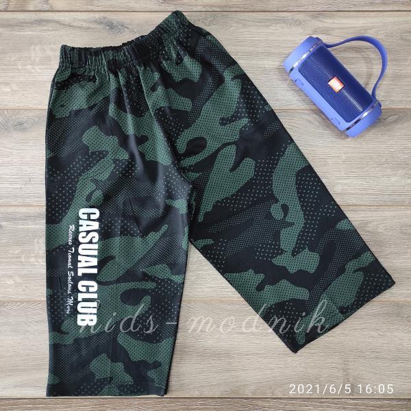детская одежда недорого Бриджи подростковые для мальчиков -Sport- зеленого цвета 11-12-13 лет