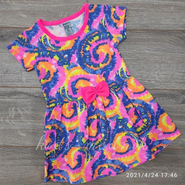 детская одежда недорого Платье летнее детское для девочек - Kipir - разноцветное 1-2-3-4-5 лет