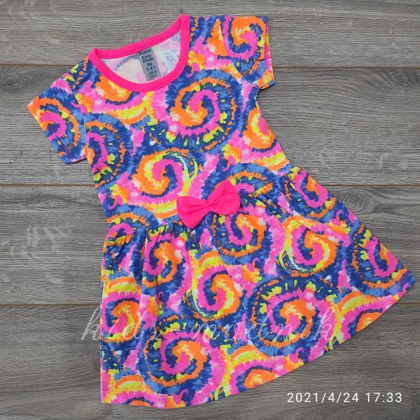 детская одежда недорого Платье летнее детское для девочек - Kipir - разноцветное 3-4-5-6-7 лет