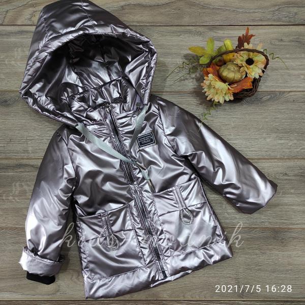 Куртка детская демисезонная для девочек -Fashion Design- светло-розового цвета 2-3-4-5-6 лет