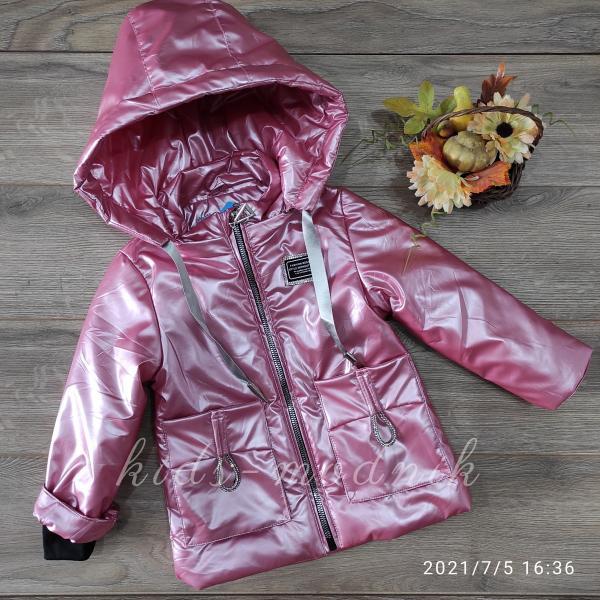Куртка детская демисезонная для девочек -Fashion Design- розового цвета 2-3-4-5-6 лет
