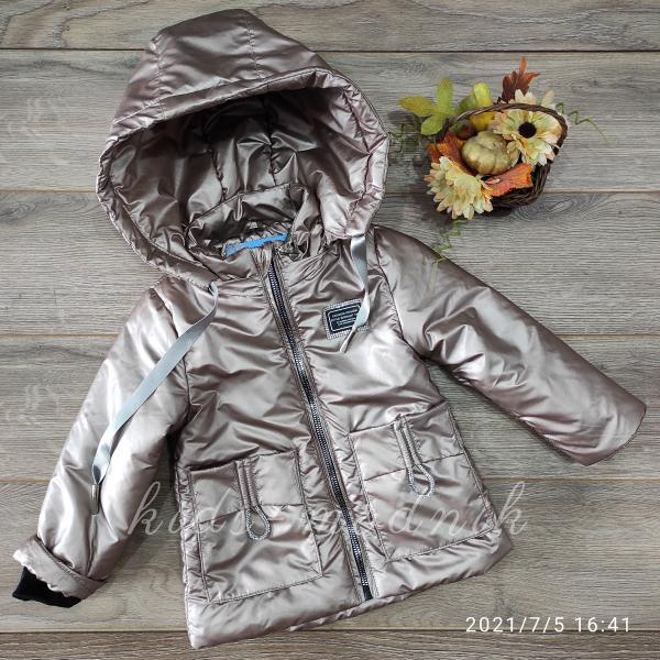 Куртка детская демисезонная для девочек -Fashion Design- цвет мокко 2-3-4-5-6 лет